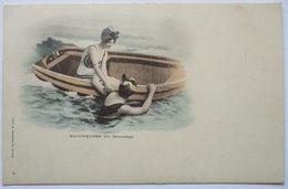 Meer, Frauen, Bademode, Boot, Ca. 1900  - Ansichtskarten