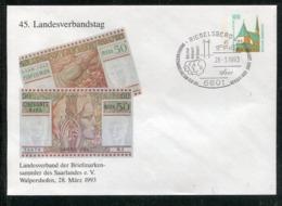 """Bundesrepublik Deutschland / 1993 / Privatganzsachenumschlag """"Geldscheine"""" SSt. Riegelsberg (0775) - [7] Repubblica Federale"""