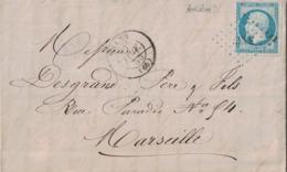 HAUT RHIN - THAAN - EMPIRE - N°14 OBLITERATION PC - 11-1-1855 - LETTRE AVEC TEXTE ET SIGNATURE A.STEHELIN MANUFACTURE - Marcophilie (Lettres)