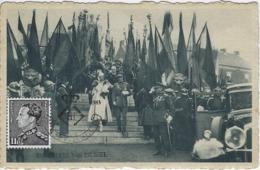 Bruxelles.  -  Inauguration D'un Monument Des Anciens Combattants Au Borinage.  -   Leopold III  +  Timbre -  1983 - Denderleeuw