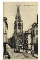 Carte Postale Ancienne Amiens - L'Eglise Saint Leu - Tramway Pp - Amiens