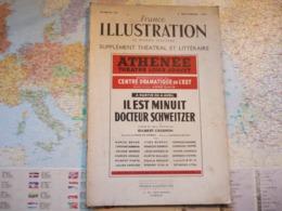 France Illustration Le Monde Illustré Supplément Théâtral & Littéraire N°90 Il Est Minuit Docteur Schweitzer / G Cesbron - Books, Magazines, Comics