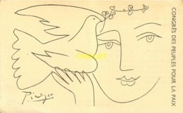 Illustrateur Picasso, Congrès Des Peuples Pour La Paix - Picasso
