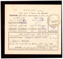 Maroc. Récépissé D'un Envoi Recommandé. 1962. Poste Téléphone Télégraphe. P.T.T - Oude Documenten