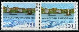 DK0955 France 1996 And Italy Unicom Port And Fish 2V MNH - France