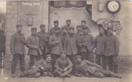 Alte Ansichtskarte Von Deutschen Soldaten Vor Dem Bahnhof In Saint-Souplet-sur-Py - France