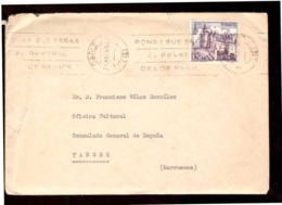 España. Sobre Sellado. Sello. Matasellos 1965. Cadiz. Tanger.  Publicidad. - 1961-70 Cartas