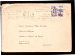 España. Sobre Sellado. Sello. Matasellos 1965. Cadiz. Tanger.  Publicidad. - 1931-Hoy: 2ª República - ... Juan Carlos I
