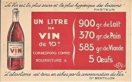 LE VIN  1 LITRE DE VIN A 10° CORRESPOND COMME NOURRITURE A  ..L'ALCOOLISME EST TENU EN ECHEC PAR LA CONSOMMATION DE VIN - Werbepostkarten