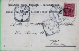 SALSOMAGGIORE. Terme, Magnaghi. Francobollo Cent 10 Isolato. Umbrto. - 1878-00 Humberto I
