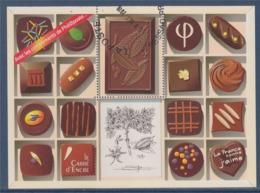 = Bloc Chocolat Hors Commerce Avec Les Compliments De Phil@poste Sans Valeur Faciale Visuel Timbre 4366 Oblitéré - Blocs & Feuillets
