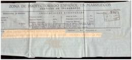 Marruecos. Protectorado Español. Telegrama De Madrid A Tánger Con Sello 1943 - Documentos Antiguos
