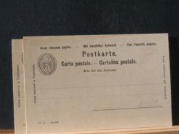 A11/201   CP  XX SUISSE AVEC REPONSE - Interi Postali