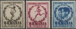 --- 1947 Roumanie Y. 999 / 1001* M. 1096 / 1098* - 1918-1948 Ferdinand, Carol II & Michael