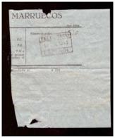 Marruecos. Protectorado Español. Sello De Telegrafo De 1943. - Documentos Antiguos