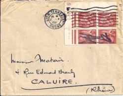 IRIS N°652x4 SUR LETTRE DE 1941 - 1939-44 Iris