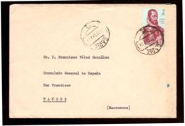 España. Sobre Sellado. Sello. Matasellos 1964. Cadiz. Tanger.  Publicidad. - 1961-70 Cartas