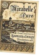 Etiquette De Mirabelle (Fougerolles) - Autres