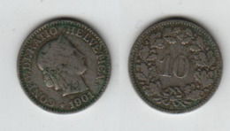 SUISSE 10 Rappen 1901 Switzerland - Schweiz