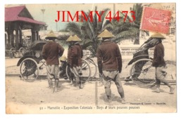 CPA - MARSEILLE - Exposition Coloniale 1906 - Boys Et Leurs Pousse Pousses - N° 52 - Phot. E. Lacour - Marseille - Expositions Coloniales 1906 - 1922