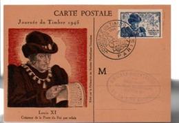 CARTE MAXIMUM 1945 JOURNEE DU TIMBRE - PARIS - Cartes-Maximum