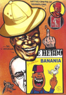 CPM Timbre Monnaie Siné Banania Par Jihel Tirage Limité En 30 Exemplaires Numérotés Signés Colonialisme Négritude - Coins (pictures)