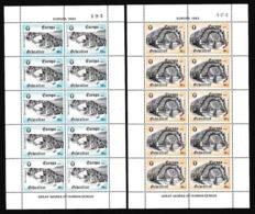 1983 Gibilterra Gibraltar EUROPA CEPT EUROPE 2 Minifogli Di 10 Valori MNH** 2 Minisheets - Europa-CEPT