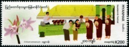 Myanmar (2019) - Set -  /  Festival - Music - Flowers - Orchids - Fleurs - Instruments - Buddhism