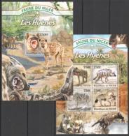 TT1337 2013 NIGER FAUNE NIGER WILD ANIMALS LES HYENES HYENAS KB+BL MNH - Autres
