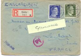 GUERRE 39-45 STO GEMEINSCHAFT LAGER DANZIG LEEGES ZOR POSTSELLE ROTE BRUCKE DANZIG 28.6.43 + Censure Ae / 509 - Guerre De 1939-45