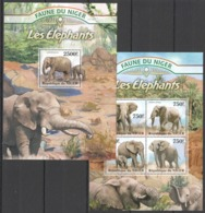 TT1344 2013 NIGER FAUNE NIGER WILD ANIMALS ELEPHANTS KB+BL MNH - Eléphants