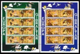 1992 Gibilterra Gibraltar EUROPA CEPT EUROPE 2 Minifogli MNH** 2 Minisheets - Europa-CEPT
