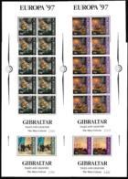 1997 Gibilterra Gibraltar EUROPA CEPT EUROPE 10 Serie Di 4v. In Minifogli MNH** 4 Minisheets - 1997