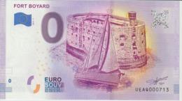 Billet Touristique 0 Euro Souvenir France 17 Fort Boyard 2019-3 N°UEAQ000713 - Privéproeven