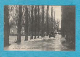 Yerres. - Crue De L'Yerres 20 Janvier 1910 - La Voiture Du Passeur - Avenue Des Peupliers. - Yerres