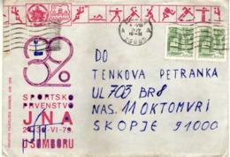 Yugoslavia 1979 Army Championship Cover - Philatelic Society Sombor.motive Sport - Briefe U. Dokumente