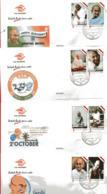 Indonesia Cover, 2 October 2019 Happy Birthday Mahatma Gandhi, 4 Cover Cencel - Indonesia