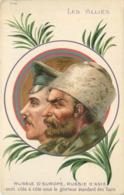 LES ALLIES - Russie D'Europe, Russie D'Asie, Carte Illustrée, Portraits. - Guerre 1914-18