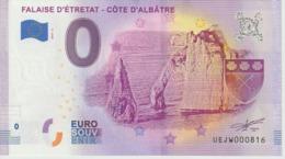Billet Touristique 0 Euro Souvenir France 76 Falaise D'Etretat 2019-3 N°UEJW000816 - EURO