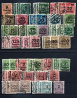 Germany , German Empire ,  Bigger Lot Of High Inflation Overprints On 2 Stock-cards (as Per Scans) VFU - Germany