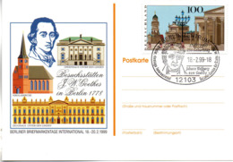 "(Bu-B4) BRD Sonder-Karte ""BERLINER BRIEFMARKENTAGE INTERNATIONAL"" EF BRD Mi 1877 SST 18.2.1999 BERLIN ZENTRUM - Cartas"