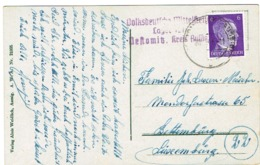 Carte Occupation (Schönpriesen A,d,Elbe Env,Bettembourg Luxembourg. - 1940-1944 German Occupation