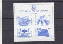 Bophuthatswana - Feuillet Spécial De 1977 ** - Oiseaux - Félins - Drapeaux - - Bophuthatswana