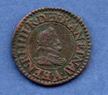 Henri IV  -  Denier Tournois  1608 A   -  TB+ - 987-1789 Monnaies Royales