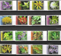 BAHAMAS, 2019, MNH, NATIVE PLANTS, FLOWERS, DEFINITIVES, 16v - Plants