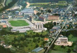 LILLEBONNE  - Vue Aérienne - Le Stade Et Les HLM - PUB CROSS TINTIN - Lillebonne