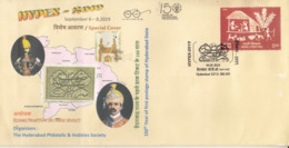 India  2019  Hyderabad Stamp Printed  Nizam,s Photos  State Cancellation  Special Cover  # 23425   C&D Inde  Indien - Hyderabad