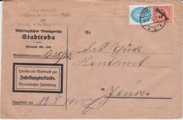 DR Dienst Div Zustellungsurkunde M 3 Reich Propaganda Stadtroda 1933 - Service