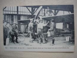 78 BUC  Aviation Aviateur Course PARIS ROME 28 Mai 1911 Appareil MORANE Piloté Par  FREY  Faisant Son Plein Gros Plan - Buc