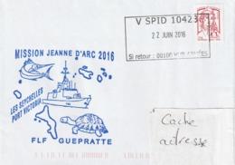 13145  FLF GUÉPRATTE Au SEYCHELLES - V SPID 10423 - Mission JEANNE D'ARC 2016 - Marcophilie (Lettres)
